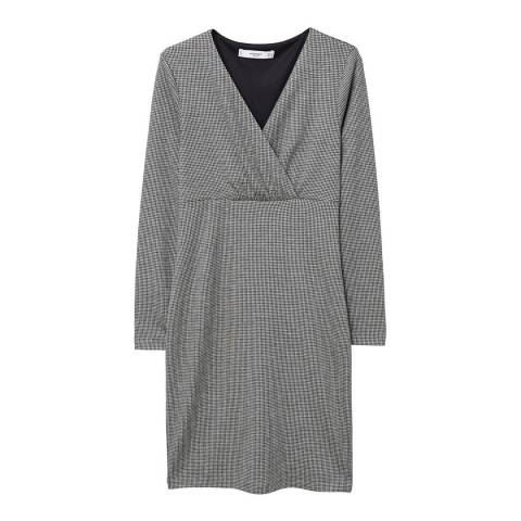 Mango Houndstooth pattern dress