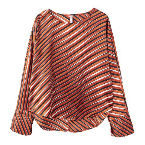 Mango Striped satin blouse