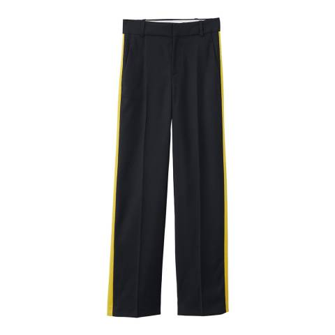 Mango Contrast trim trousers