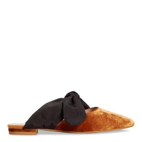 Mango Burnt Orange Velvet Knot Shoes