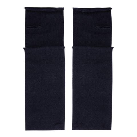 Laycuna London Navy Cashmere Wrist Warmers