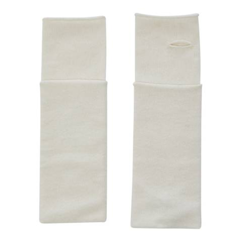 Laycuna London White Cashmere Wrist Warmers