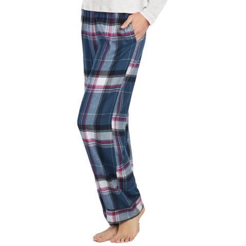 DKNY Blue Check Long Pant