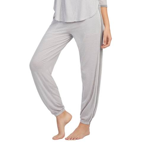 DKNY Grey Stripe Long Knit Pant