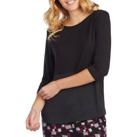 DKNY Black 3/4 Sleeve Knit Top