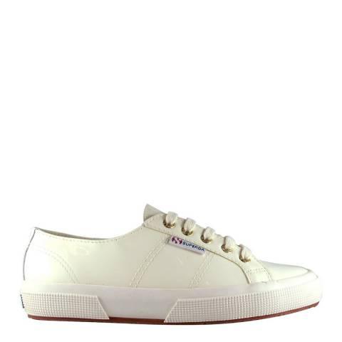 Superga Ecru Leather Patent 2750 Sneakers