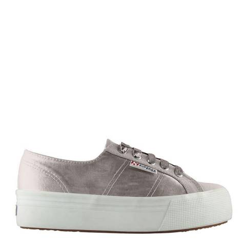 Superga Beige 2790 Satin Flatforms
