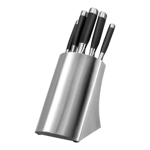 Lion Sabatier 5 Piece Stainless Steel Knife Block Set