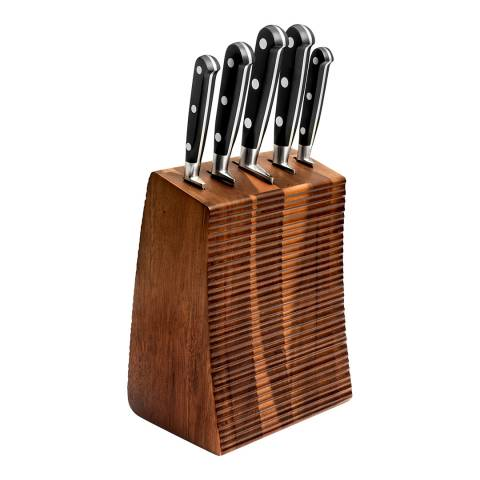 Lion Sabatier 5 Piece Licorne Acacia Knife Block Set