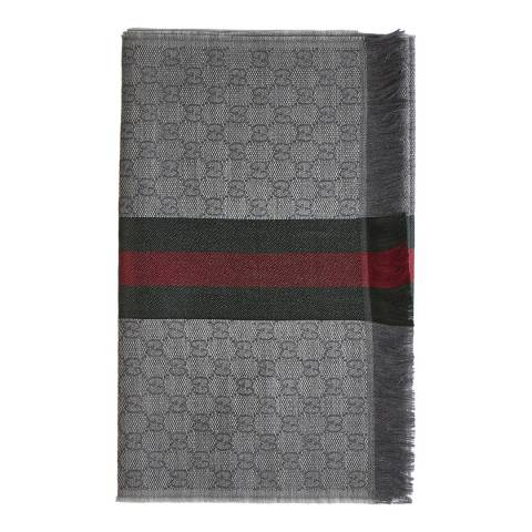 Gucci Grey Monogram Scarf