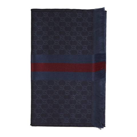 Gucci Navy Monogram Scarf
