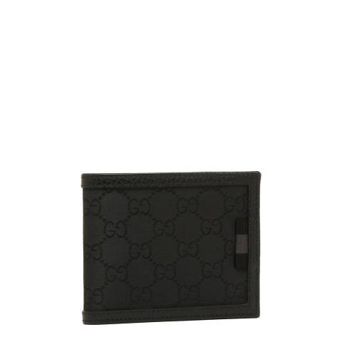 Gucci Men's Black Guccissima Canvas Wallet