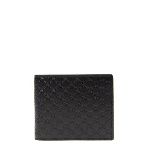Gucci Men's Black Leather Monogram Wallet