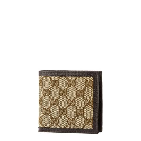 Gucci Men's Beige Guccissima Canvas Wallet