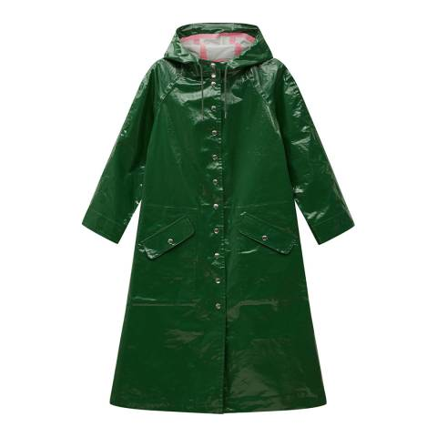 ALEXA CHUNG Green Hooded Raincoat