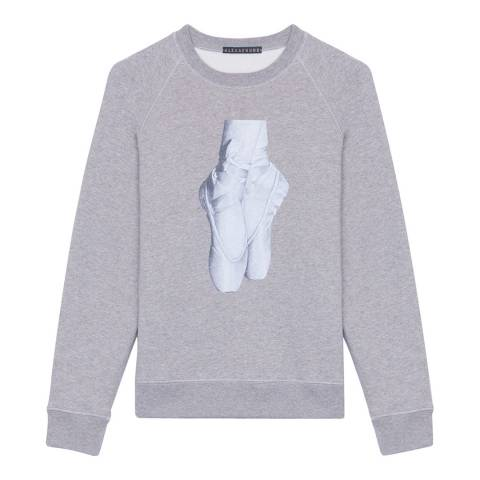 ALEXA CHUNG Grey En Pointe Cotton Sweatshirt