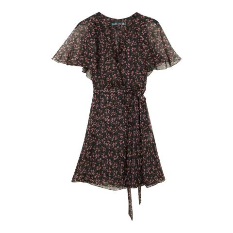 ALEXA CHUNG Multi Mini Wrap Dress