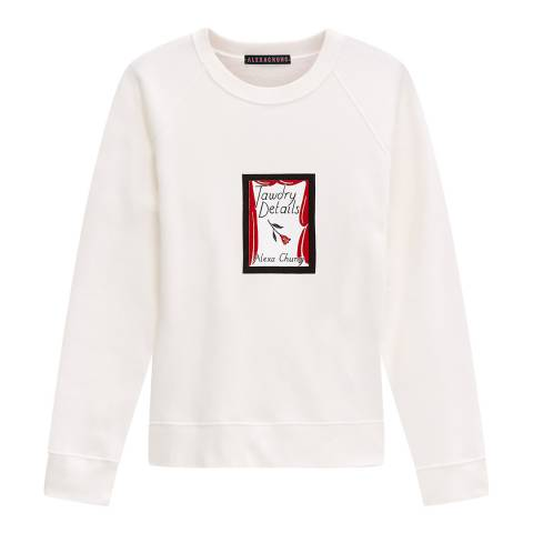 ALEXA CHUNG Cream Tawdry Details Cotton Sweatshirt