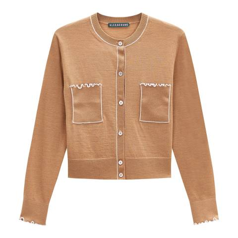 ALEXA CHUNG Multi Ruffle Trim Wool Cardigan