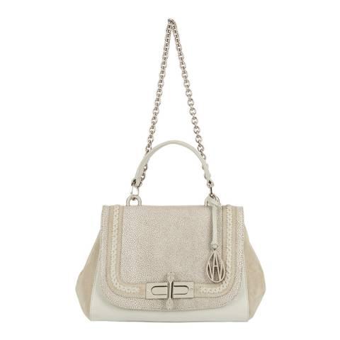 Amanda Wakeley Mineral Braided Redmayne Leather Bag