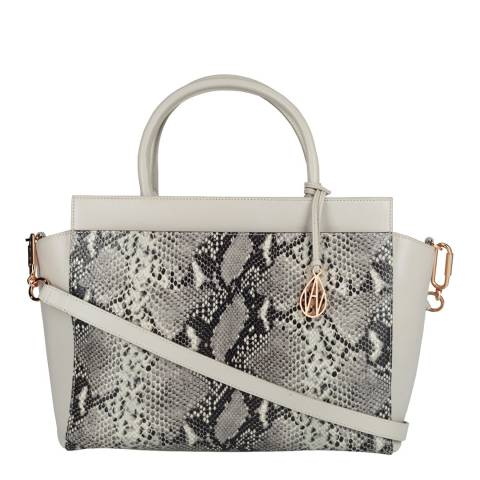 Amanda Wakeley Mineral/Natural Python Sutherland Leather Bag