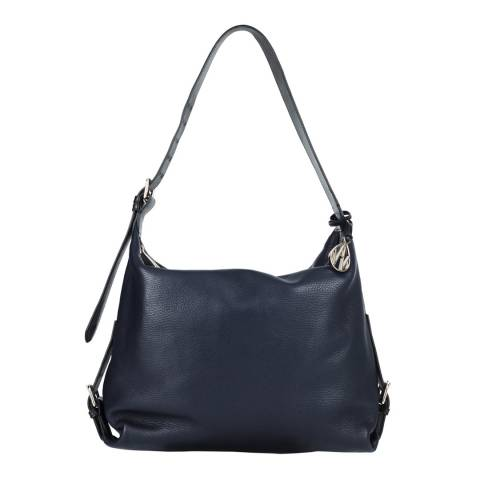 Amanda Wakeley Midnight Midi Costner Leather Bag