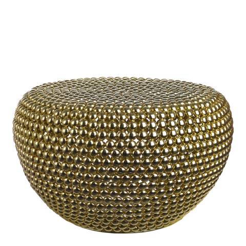 Pols Potten Dot Stool Brass Low