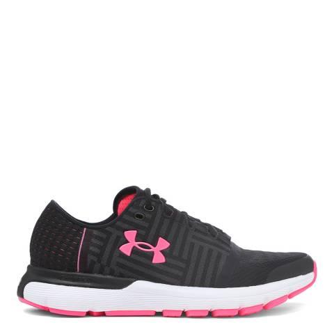 Under Armour Black and Pink UA Speedform Gemini Sneaker