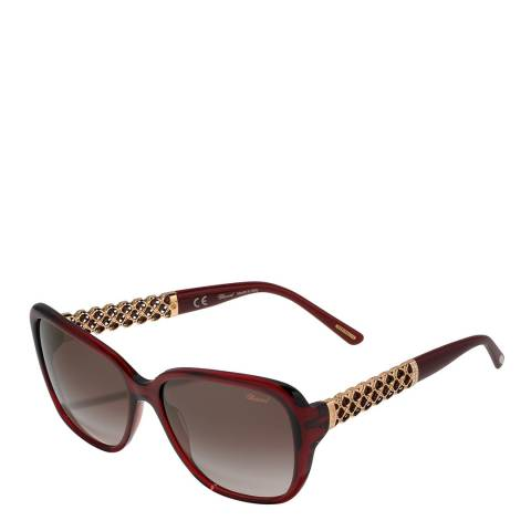 Chopard Women's Burgundy Lattice Chopard Sunglasses 58mm