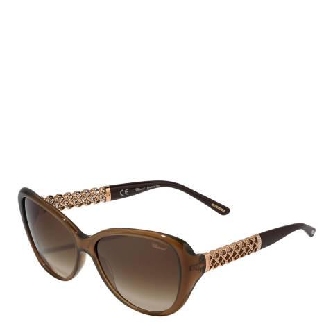 Chopard Women's Clear Brown Chopard Sunglasses 57mm