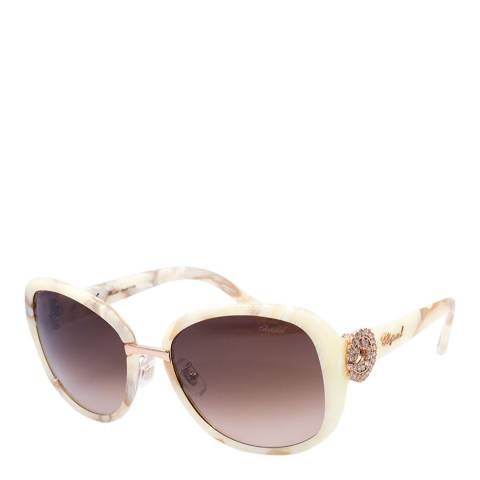 Chopard Women's Ivory Marbled Chopard Sunglasses 57mm