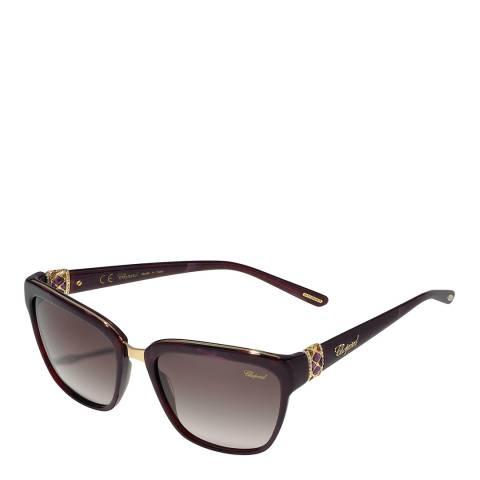 Chopard Women's Purple Tortoise Chopard Sunglasses 57mm