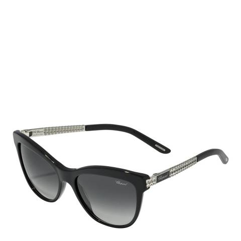 Chopard Women's Black Crystal Chopard Sunglasses 55mm