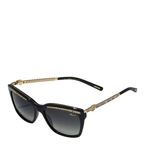 Chopard Women's Black Crystal Chopard Sunglasses 55mm