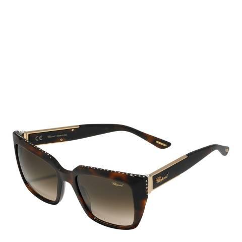 Chopard Women's Brown Tortoise Chopard Sunglasses 53mm