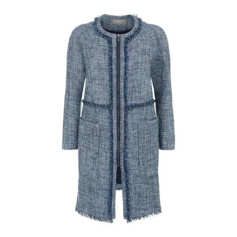 Fenn Wright Manson Navy Natalie Cotton Blend Petite Coat