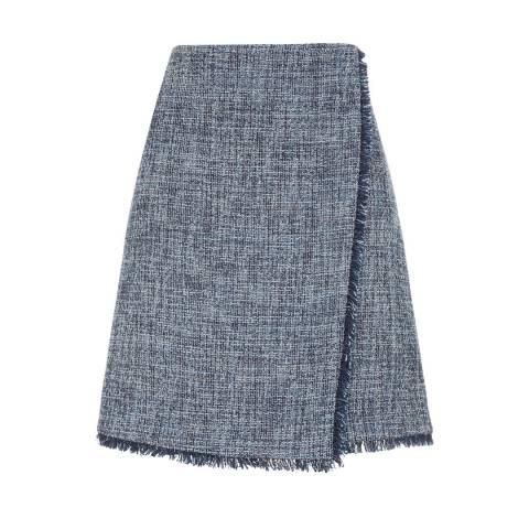 Fenn Wright Manson Navy Natalie Cotton Blend Petite Skirt
