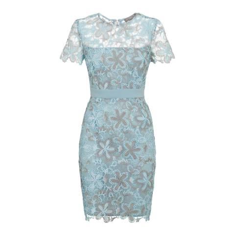 Fenn Wright Manson Blue/Silver Wren Petite Dress