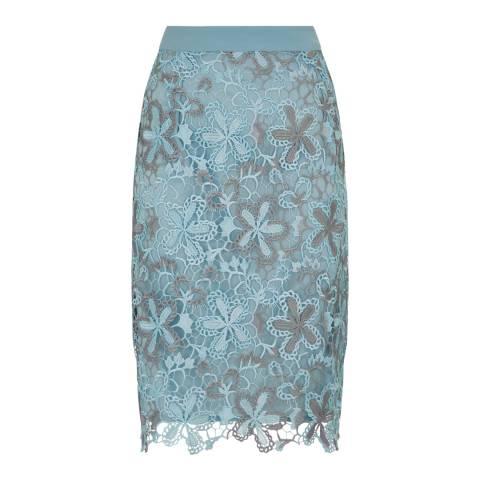 Fenn Wright Manson Blue/Silver Wren Petite Skirt