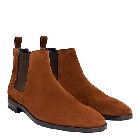 John White Snuff Brown Suede Yates Chelsea Boots