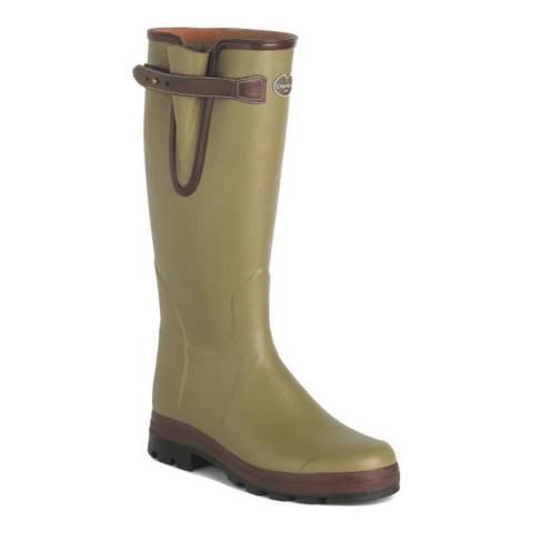 Le Chameau Men's Green Vierzon Evo Wellington Boots (calf width 50)