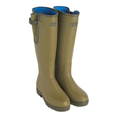 Le Chameau Green Vierzonord Neoprene Lined Rubber Boots