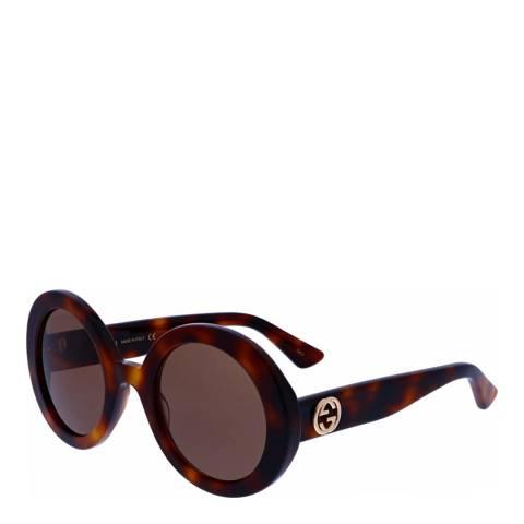 Gucci Women's Brown Shaded Gucci Sunglasses 52mm