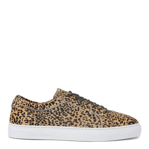 Oliver Sweeney Leopard Textured Vendas Trainers