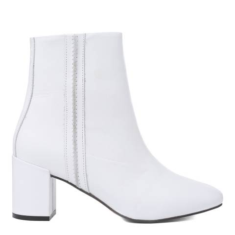 Oliver Sweeney White Leather Velhote Ankle Boots