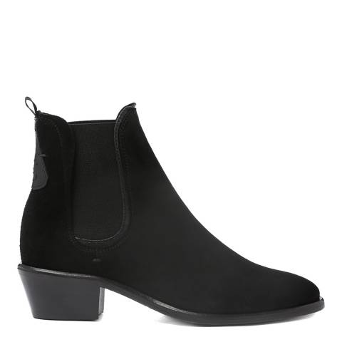 Oliver Sweeney Black Suede Serpa Ankle Boots