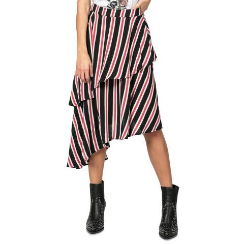 Religion Black/Rose Atom Skirt