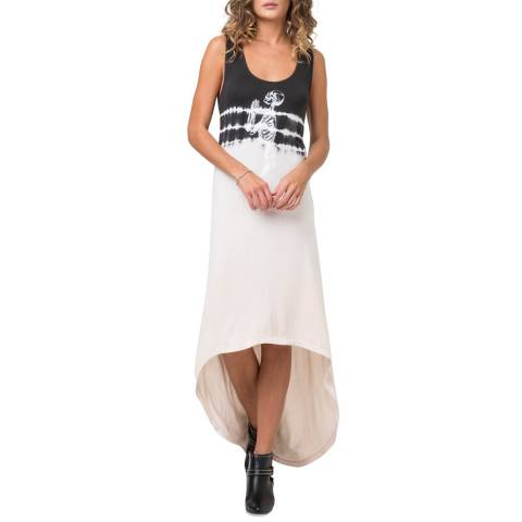 Religion Ivory/Charcoal Vibration Dress