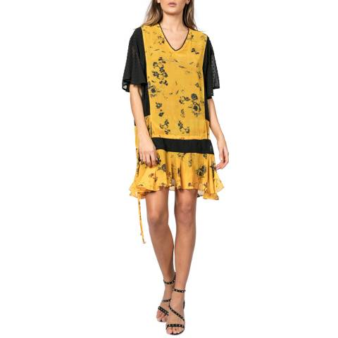Religion Yellow/Black Poise Tunic Dress