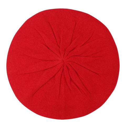 Laycuna London Crimson Red Cashmere Beret